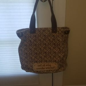 Life Is Good Bags - Life is Good brown canvas tote